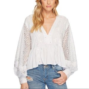 Free People Embellished Boogie All Night Top